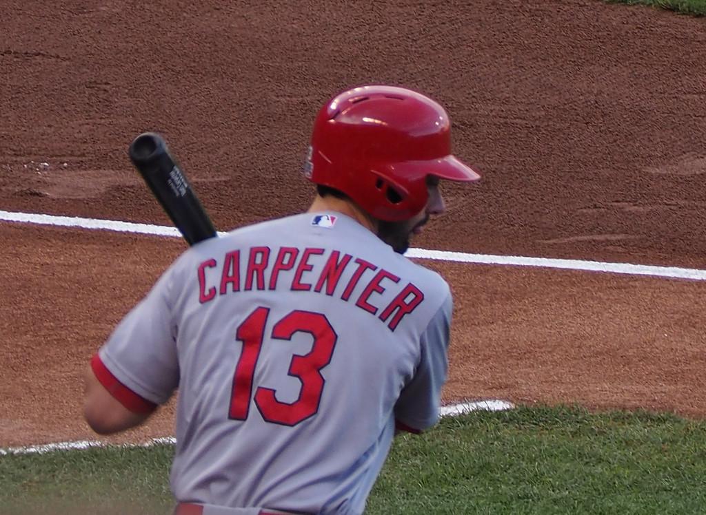 Matt Carpenter, getting warmed up.
