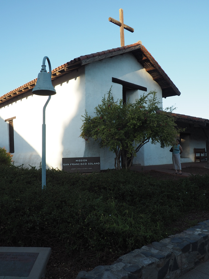 With the wine tasting done for the day, we visited the town of Sonoma, finding a little history along the way.  This is Mission San Francisco Solano, the nothernmost of the Franciscan missions in California.