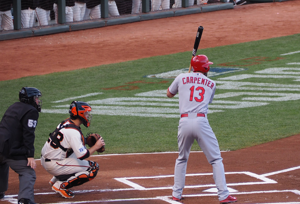 Carpenter leads off....