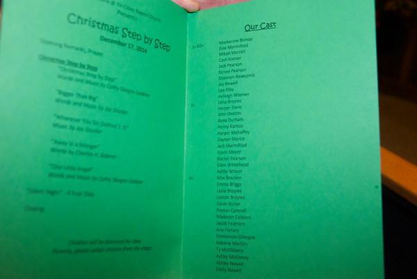 Cash half -time Christmas Program