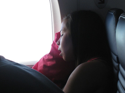 Sleeping beauty pretty much slept most of the trip. She has the uncanny ability to pretty much sleep thru any situation.