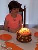Jennifer with Orange Ballet Shoe's Birthday Cake