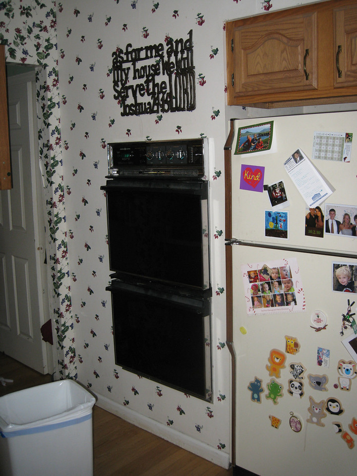 Stove Area - before - this will become a pantry, and the new ovens will be relocated.
