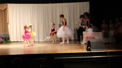 Lyla's Recital - Post show flowers (Let it Go)