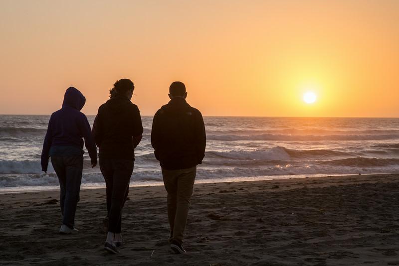 Sunset at Pajaro Dunes
