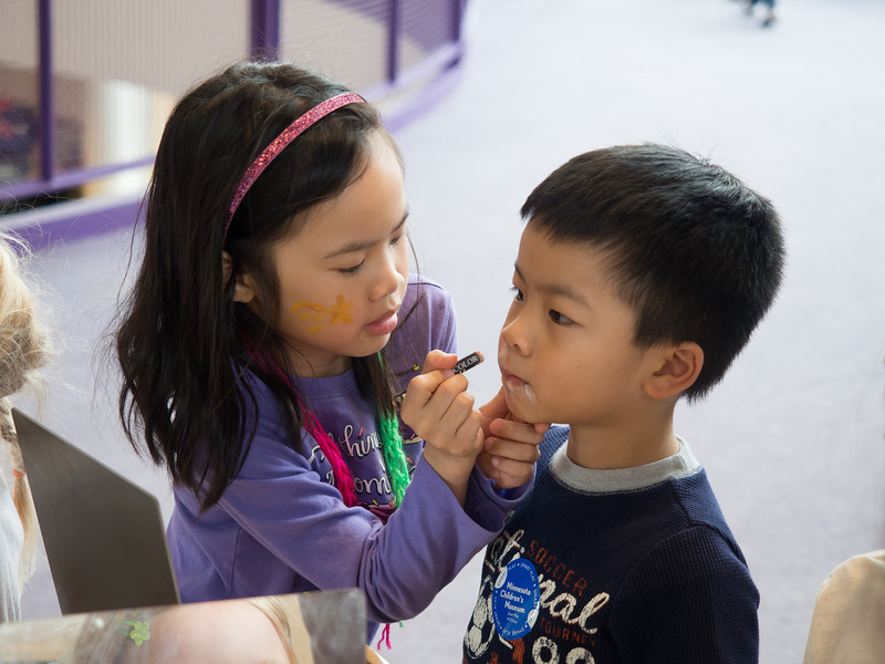 Face painting at Children's Museum