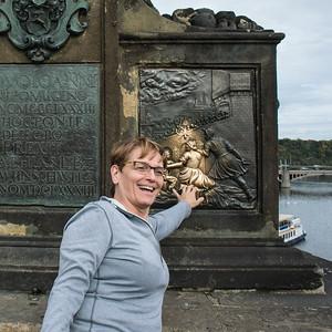 Linda rubbing St. John's butt