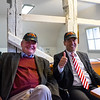 Bürgermeister Scheller and Juristischer Schmidt wearing Giants Caps Steve presented