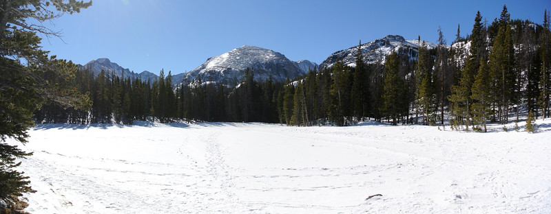 Snowshoeing in Rocky Mountain National Park - Nymph Lake