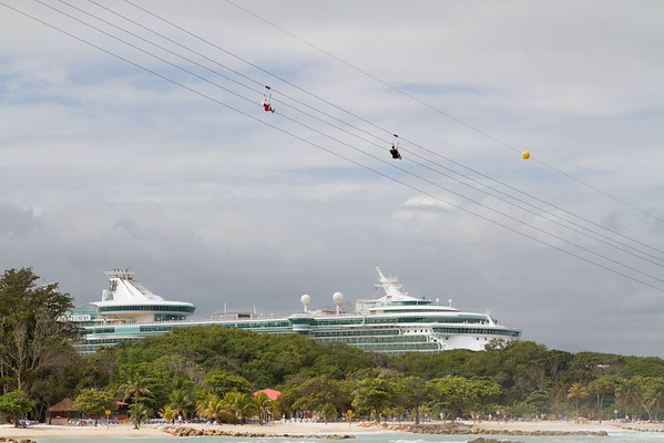 Zip line across the bay