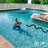 "John swims with a huge water mocca mackah mocha snake. Masterbuilt Manufacturing, Columbus, GA.  Photo by Kim Mitchell,  <a href=""http://www.masterbuilt.com"">http://www.masterbuilt.com</a>"