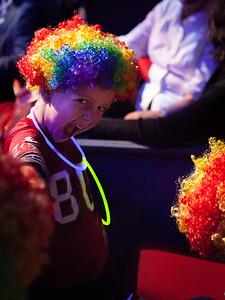 Teddy clowning around