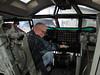 Bob sitting in  a B52 pilot seat