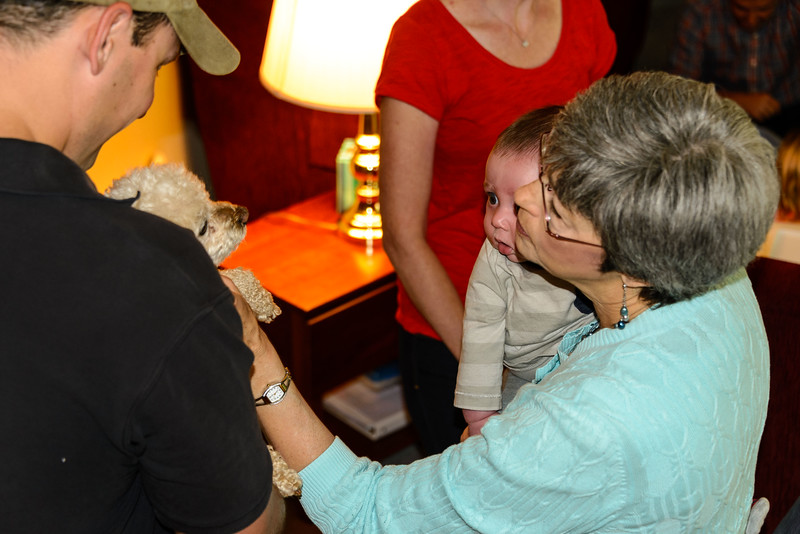 "Aunt Beth (Loveland, CO) introducing E to their puppy ""Jack"""
