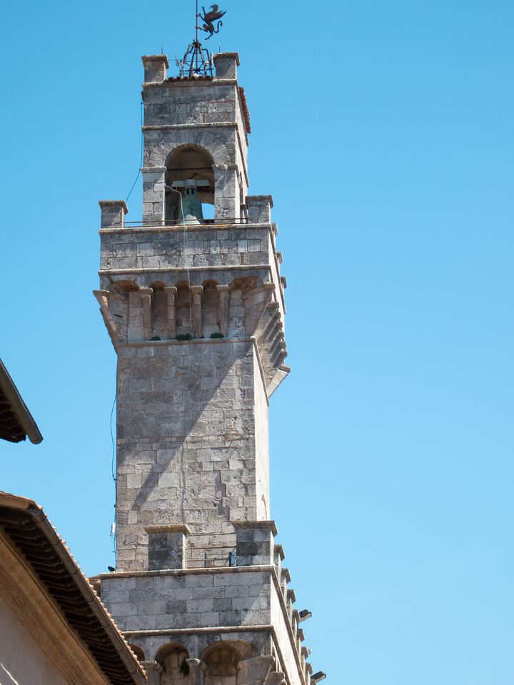 Belltower in Montepulciano