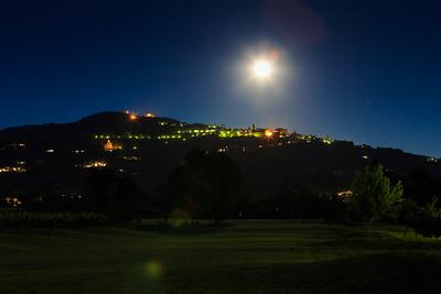 Cortona at night