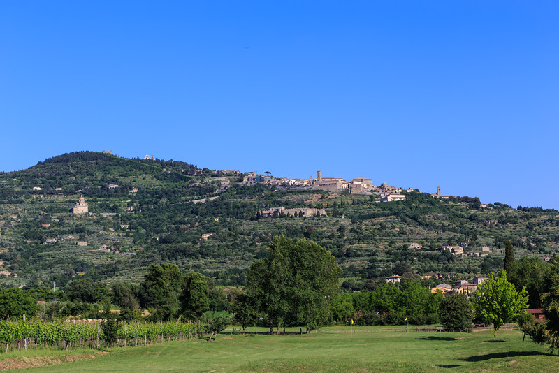 Cortona as seen from our hotel