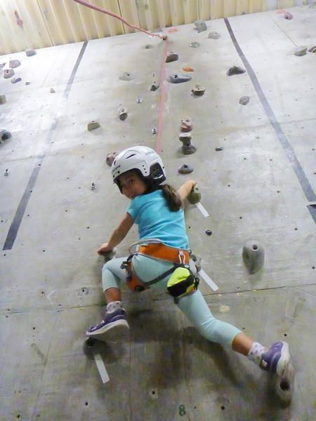 2015-Jan: Josee rock-climbing