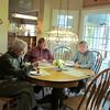Frank, Ken, Doug Gould, Doug's kitchen, Mooresville, NC, 1/17/2015