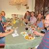 Ryan, Claudia, Shirley, Chad, Crystal, Jenny, Chris, family dinner at Jenny and Chris' 7/13/2015
