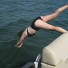 Olivia diving