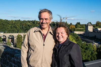 Ed and Vesna above gorge