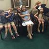 2nd cousins Bryan, Matthew Lisek, Bella, Becca, Bria Block, Spencer Lisek at Martha Mohn's funeral (Vickii's mother), Seminole, FL, 12/6/2015