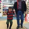 Hayden's first skate