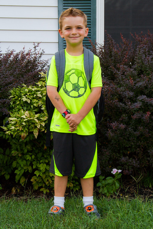 2015-08-05 First day of 1st and 4th grade