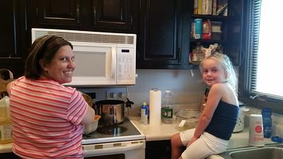 2015-08-08 Maddie & Shanda in the kitchen