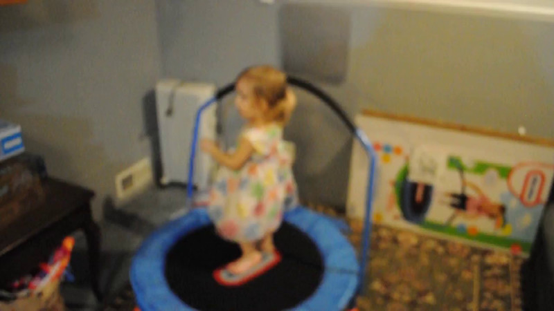 Video of Adalyn checking out her new toy.