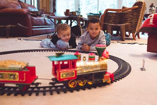 Christmas train track