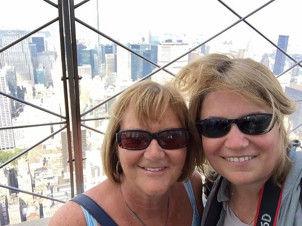 Liz and Joanne atop the Empire State Building, New York City. August 2015.
