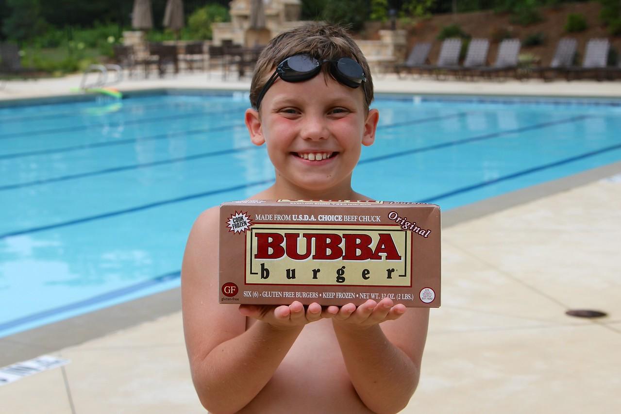 Dakota's nickname is Bubba. So, here is Bubba with his namesake burgers.