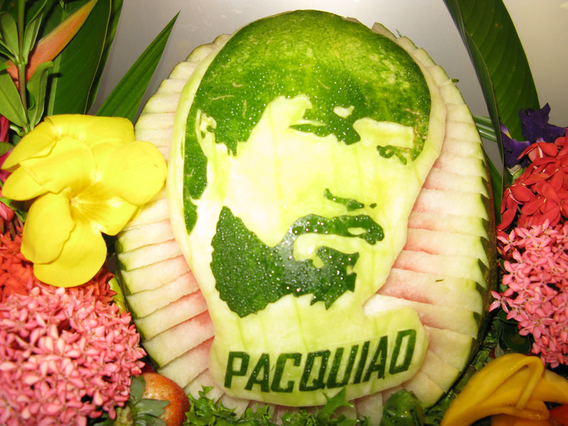 On the day of a Pacquiao fight. watermellon at PIC Bistro brunch.  May 3
