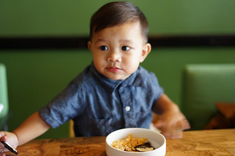 Earnie's grandson at Outrigger brunch 9/13