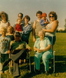 Sue, Steven, Carie, Jim, Jeff, Ede, Larry, Bill, Pat, Bob & Jean 1979