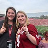 Olivia and Hannah at the Rose Bowl, New Year's Day, 2018, Oklahoma vs. Georgia.