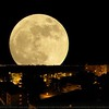 Supermoon on the Spring Equinox, March 20, 2015.
