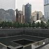 Olivia in New York at Ground Zero.