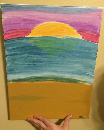 2016-03-23 Dads 75th birthday art from the kids