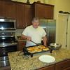 Grandpa making pancakes, 4/16/2016
