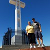 Mt. Soledad cross.  After multiple court contests to tear down the cross (on public land), it was finally settled with a private foundation purchasing the land and cross.  Great monument to soldiers.