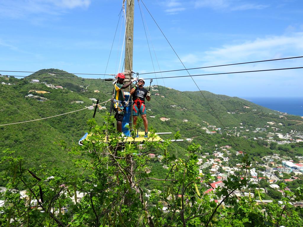 Zip Lining On Tortola, BVI May 2016