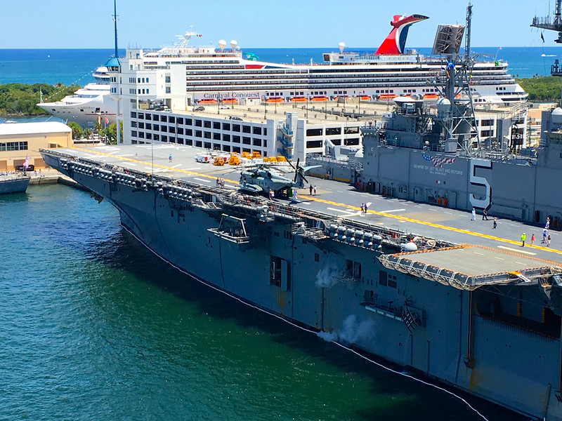 Fleet Week Port Everglades Fort Lauderdale From Allure Of The Seas May 2016