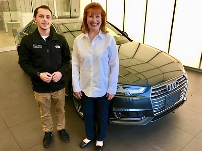 Travis & Ann Bellmor With Her 2017 Audi A4 Quattro Prestige 12-17-16