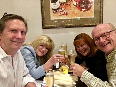 Tom & Kathy O'Barr and Ann & Russell Bellmor 12-31-16 New Year's Eve Dinner