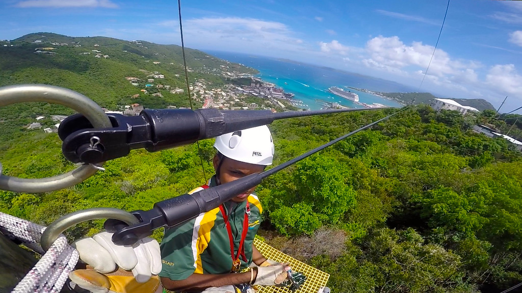 Russell Zip Lining On Tortola, BVI May 2016