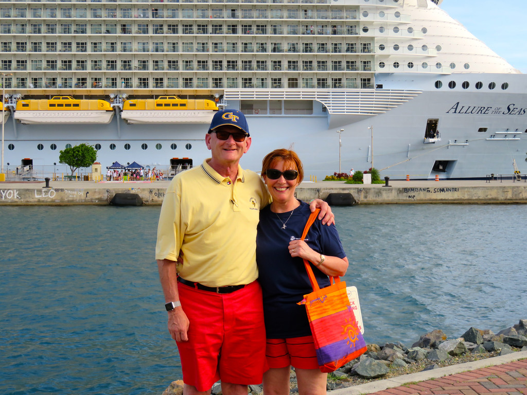 Ann & Russell Allure Of The Seas At St. Thomas May 2016