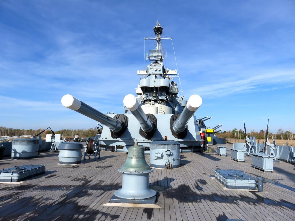 The Big Guns On The North Carolina Battleship Wilmington NC March 2016